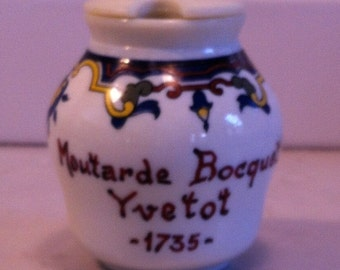 "Vintage French Mustard Pot ""Moutarde Bocquet"""