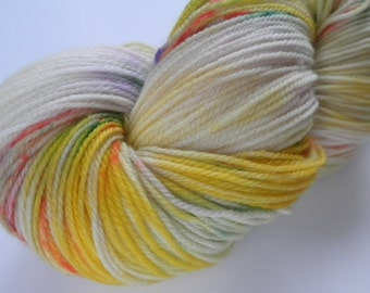 Hand dyed yarn, sock weight, superwash Merino, 463 yds, Confetti