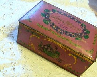 Vintage Candy Tin, Metal Candy Box, Louis Sherry Candy