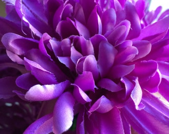 Flower Pens Set of 34 Mums Chrysanthemums Lavender Purple Handmade Wedding Bridal Shower Birthday Party Favors