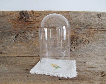 Vintage Glass Cloche Dome