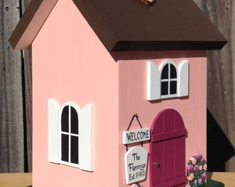 Small Wedding Card Box Cottage with Flowers