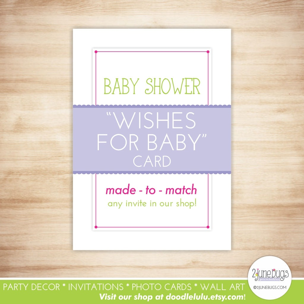 Baby Shower Message For Card: Wishes For Baby Advice Cards Baby Wishes Card Baby Shower