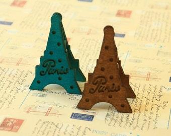 Eiffel Tower Wooden Card Holder Pegs