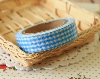 Sky Blue Gingham deco fabric tape