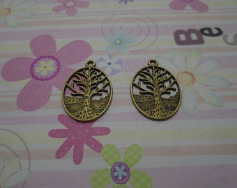 10pcs antique bronze tree leaf/leafage/leaves findings 35x24mm