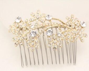 Wedding accessories,Wedding hair accessories,Gold wedding hair comb,Bridal hair piece,Wedding comb gold,Bridal hair accessories,Bridal comb