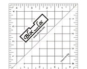 """CIJ SALE Bloc-Loc 4.5"""" Inch Ruler - Half Square Triangle Ruler - Square Up Ruler for HST - Quilting Tool"""