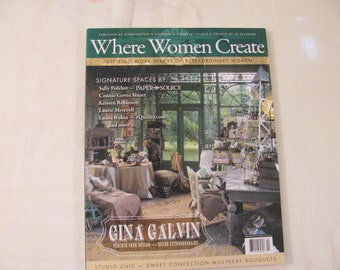 Where Women Create Magazine Bacj Issue from Somerset - Feb/Mar/Apr 2010 - Stampington -