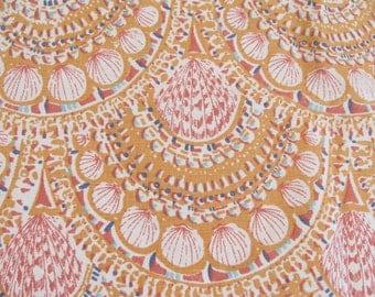 Vintage Pillowcase w/ Faux Batik Pattern of Seashells - Cotton / Poly Blend Percale - No Iron - By J P Stevens