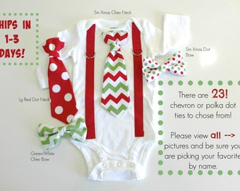 Baby Boy Christmas Outfit. Chevron Tie and suspender outfit for christmas. Toddler Christmas clothes. Newborn boy. infant