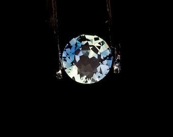 Sapphire blue 1/3 carat round Grade A