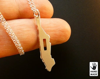 MANHATTAN New York Central Park Handmade Sterling Silver .925 Necklace in a gift box