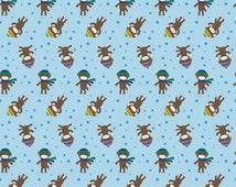 Sock Monkey - FLANNEL Print Fabric by Alpine Fabrics - you choose the cut