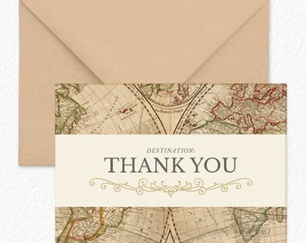 Wanderlust - Thank You Cards