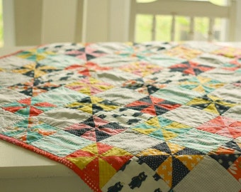Pinwheels and Bears Quilt