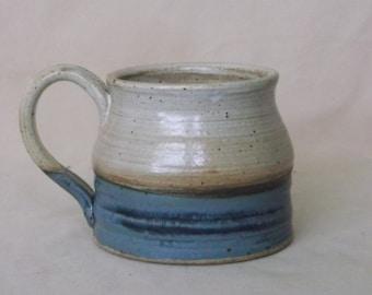 Tan and Blue Mug