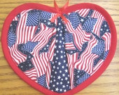 Many American Flags Potholders - Set of 2