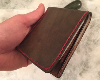 Personalized Leather Wallet - Men's Leather Wallet - Men's Wallet -  Money Leather Wallet - Leather Card Wallet - Brown Leather Wallet