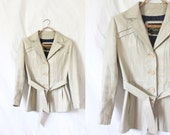 S A L E bone leather jacket / 1970's