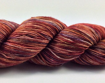 Hand dyed sock yarn - Mulled Cider 2