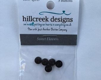 Sweet Flowers Button Pack from Hillcreek Designs B249-QDD