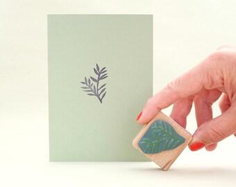 Rubber Stamp | floral | conifer | Christmas Rubber Stamp | ecofriendly |STUDIO KARAMELO