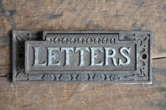 cast iron letters authentic vintage eastlake cast iron letters door slot e2162 20792 | il 570xN.991070143 8oo8