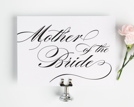 Mother of the Bride Sign for Your Wedding in Black and White