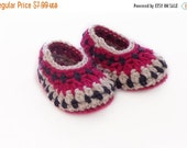 Labor Day sale Crochet Baby Booties, Baby Ankle Boots, Crochet Booties, Baby Shoes, Crochet Cap, Crib Shoes, Galilee Booties - 3 to 6 months