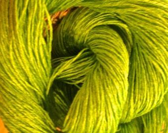 """Wet Spun Linen Yarn Soft & Durable """"Island Moss"""" Spinning and Weaving"""