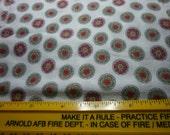 Vintage Flour Sack, 1930-1940 Vintage Fabric, Feedsack -red gold black cream -20x 40 inches
