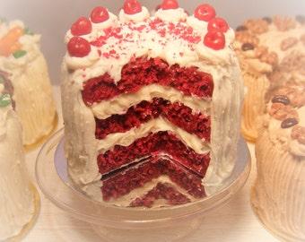 12th Scale Doll house Red Velvet Cake