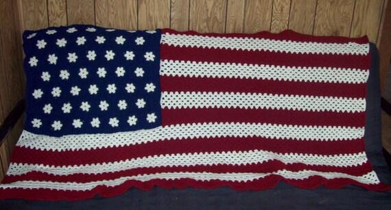 American flag afghan stars and stripes afghan crochet afghan like this item dt1010fo