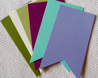 Stampin' Up! Cardstock Die Cuts Shapes, 50+ Colors to choose from, Stars, Hearts, Banners, Ovals, Squares, Circles