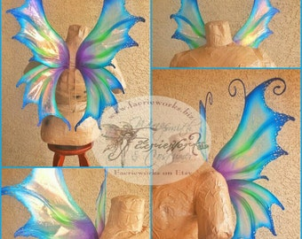 Mythical Faery Wings Fairy Dragon Wings for Bridal Wedding Cosplay Convention LARP Halloween Costume Fair Faire Festival Faery Wings Fairy