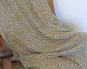 Spring Meadow Prayer Shawl Knitted Afghan 36 x  56,  machine washable, acrylic blend - Ready To Ship Today