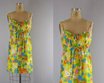 1960s Vintage Dress l 60s Mod Sundress by Lanz