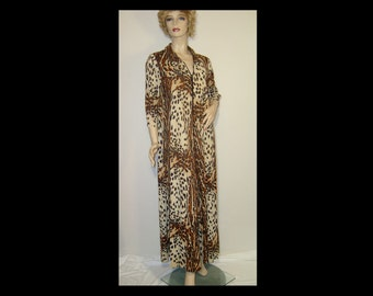 Cheetah Robe Etsy