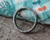 Handmade Ring - Sterling Silver Ring - Silver Ring - Sterling Silver Band - Boho Ring - Unisex Rings - Textured Ring - Stacking Ring - Band