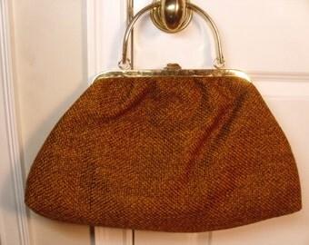 Vintage 1960's  Julius Resnick Carpet Handbag  Large