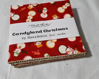 Candyland Christmas charm pack - Winter/holiday