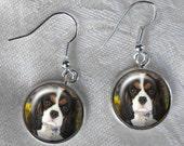 Custom Dog Earrings ~ Unique Gift ~ February Birthday ~ Cavalier King Charles Spaniel ~ Charlie Earrings