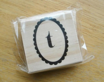 Lower Case T Rubber Stamp