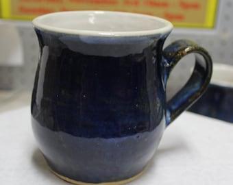 14 oz blue mug