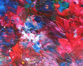 Deep Rich Petals Original Abstract Acrylic Painting