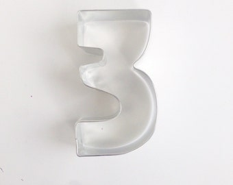 Number 3 Cookie Cutter, 3rd Birthday Cookie Cutter