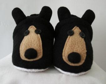 Black bear slippers