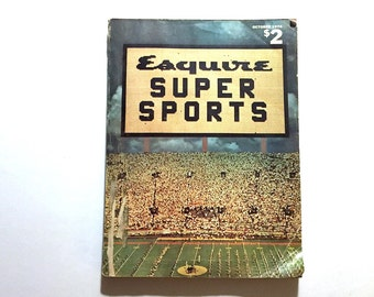 1974 ESQUIRE Magazine Super Sports Issue - Howard Cosell - Hockey - Football - 1970s Fashion - Rare Special Issue - Father's Day - Man Cave