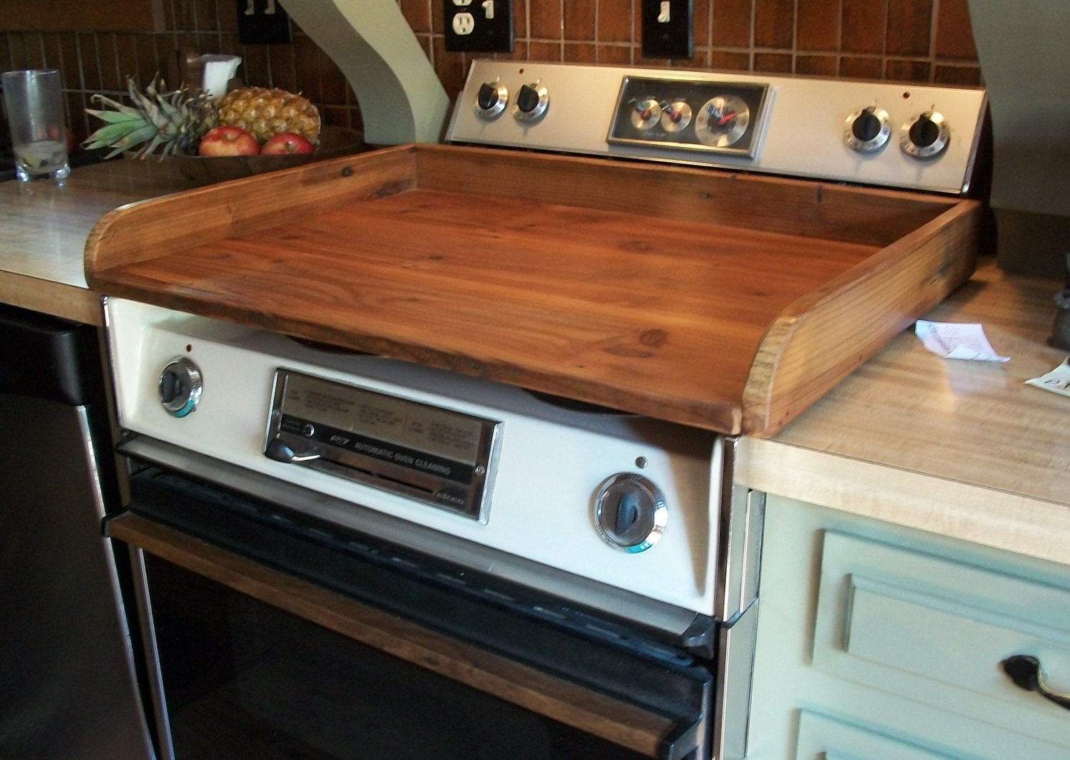 Reclaimed Wood Stovetop Cover Tc127